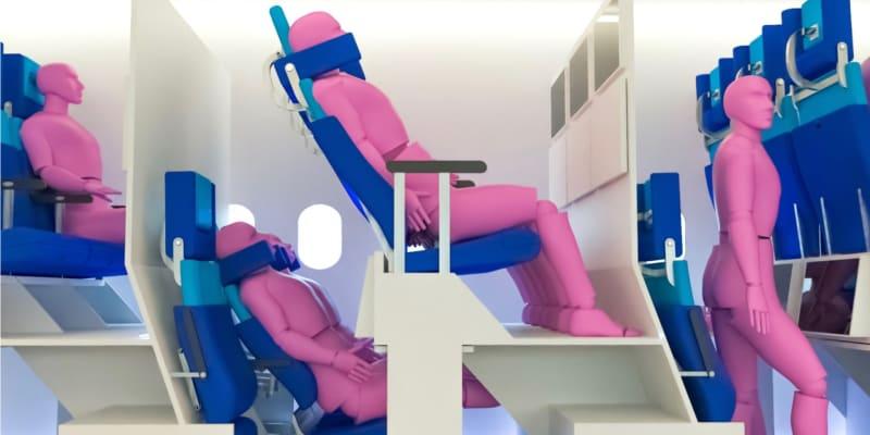 Takto by podle jednoho z návrhů mohlo vypadat cestování letadlem v příštích letech.