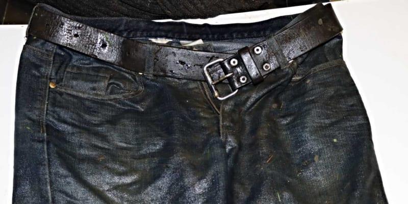 Kalhoty s páskem