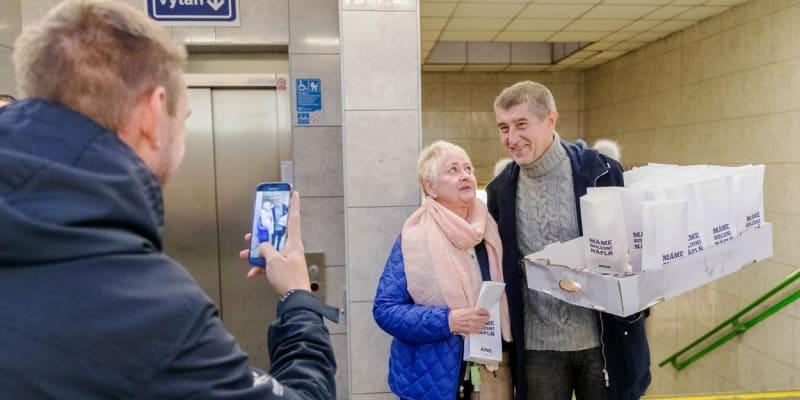Andrej Babiš v roce 2017 při kampani do sněmovních voleb