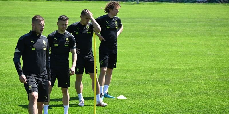 Čeští fotbalisté při tréninku v Jižním Tyrolsku.