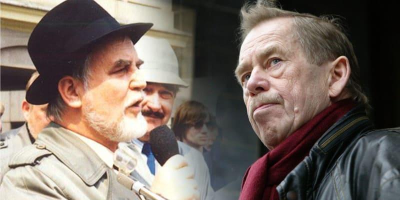 Boleslav Bárta a Václav Havel