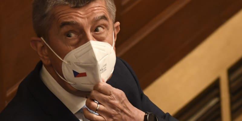 Premiér Andrej Babiš (ANO) na jednání Sněmovny