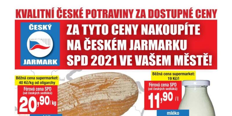 Leták hnutí SPD
