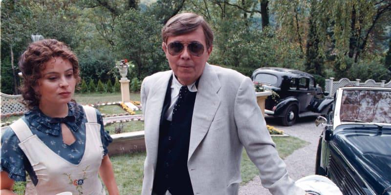 Libuše Šafránková a Josef Abrhám během natáčení filmu Všichni moji blízcí