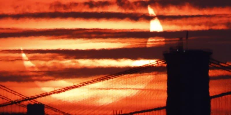Pohled na ranní New York