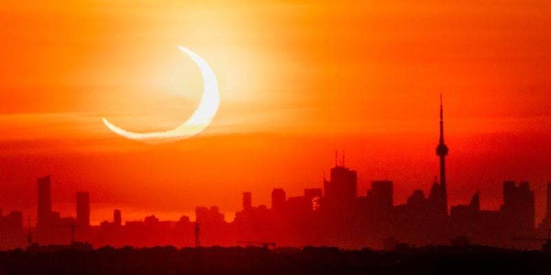 Krásný pohled na kanadské Toronto