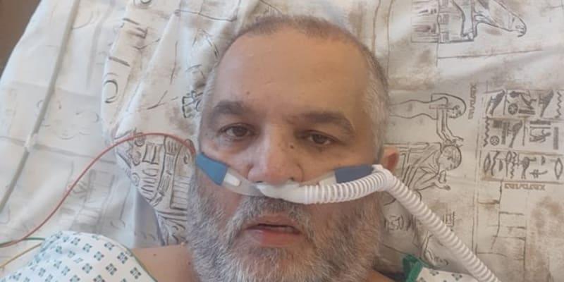 Josef Stojka během onemocnění covidem ve Fakultní nemocnici v Ostravě