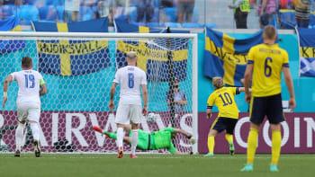 Slováci pykali za penaltu. Švédsko má první vítězství na Euru od roku 2012