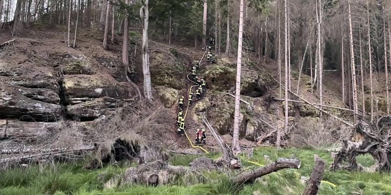Požár v Českém Švýcarsku