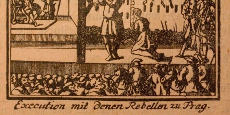 Staroměstská exekuce, poprava 27 rebelů 21. července 1621. Někteří byli sťati, jiní oběšeni.