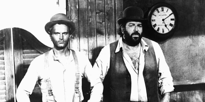 Terence Hill a Bud Spencer byli hvězdami své doby. Prorazili především díky tzv. špagetovým westernům.