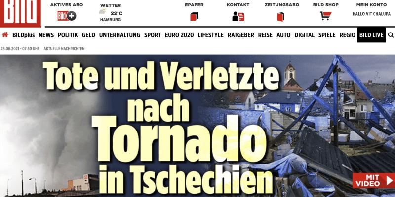 Zpravodajství německého deníku BIld