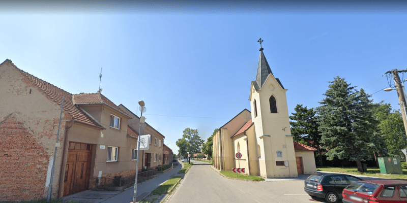 Kostel v Hruškách - Google street view