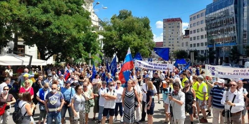V Bratislavě se demonstrovalo. (autor: Facebook/Odborový svaz KOVO)