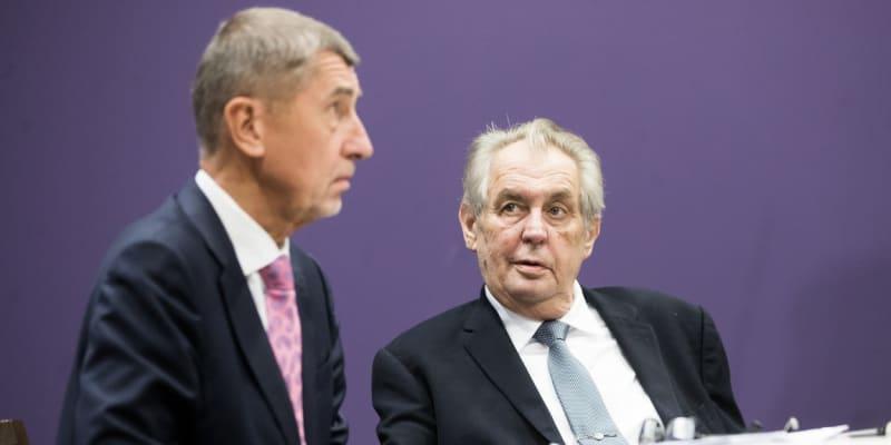 Prezident Miloš Zeman a premiér Andrej Babiš (ANO)