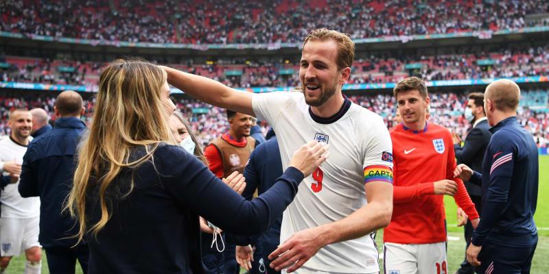Spokojený Harry Kane po postupu přes Německo do čtvrtfinále Eura