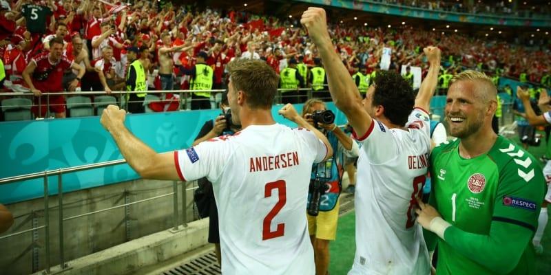 Dánové podruhé v historii postoupili do semifinále Eura. A radost byla pochopitelně velká.