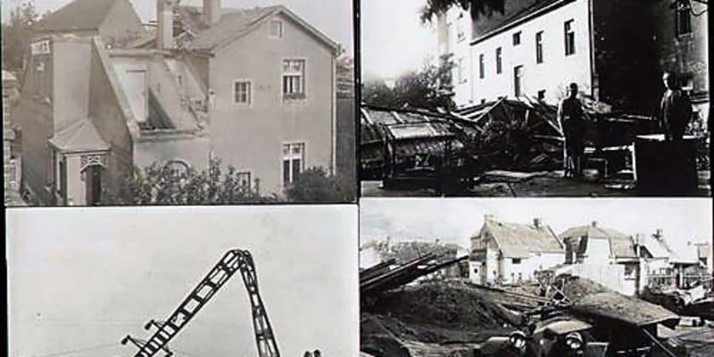 Následky tornáda na Kutnohorsku v roce 1929 (zdroj: www.obzorykutnohorska.cz)