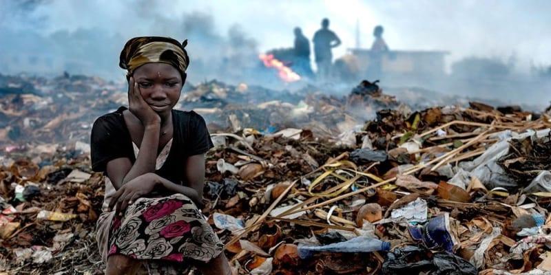 Laguna Korle u hlavního ghanského města Akkra je dodnes silně znečištěná.