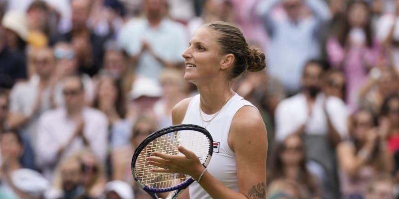 Game, set, match. Plíšková porazila Arynu Sabalenkovou.