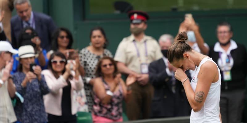 Karolína Plíšková nechtěla věřit tomu, že je ve finále Wimbledonu.