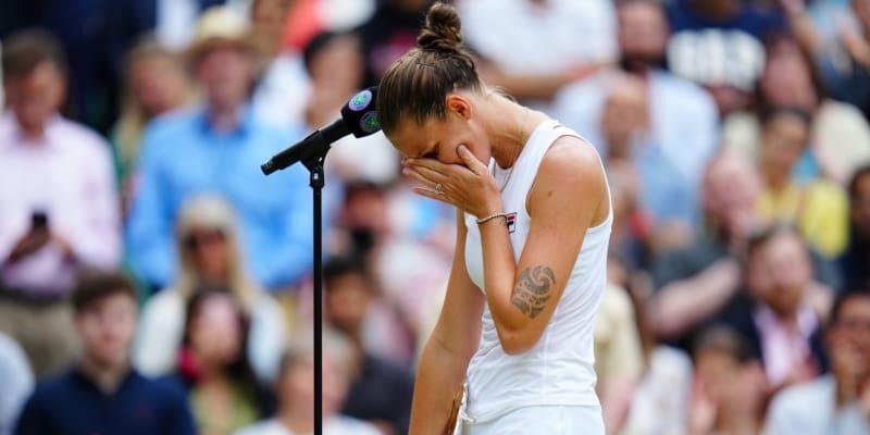 Karolína Plíšková letos prohrála finále Wimbledonu.