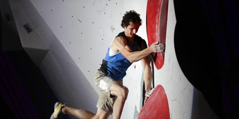 Adam Ondra na závodech v boulderngu v Japonsku