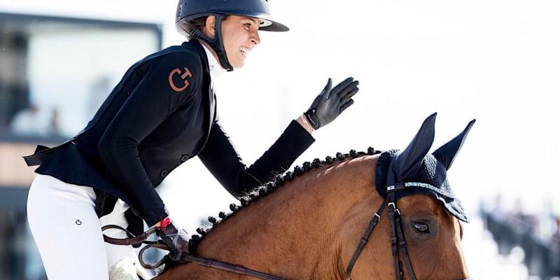 Česká olympionička Anna Kellnerová při závodech v Praze.