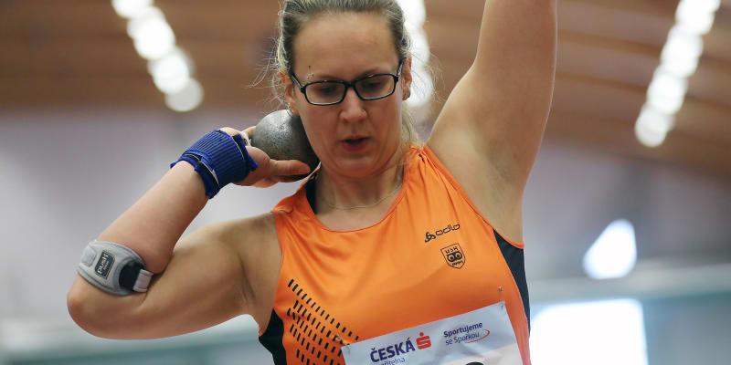 Markéta Červenková reprezentuje ČR ve vrhu koulí.