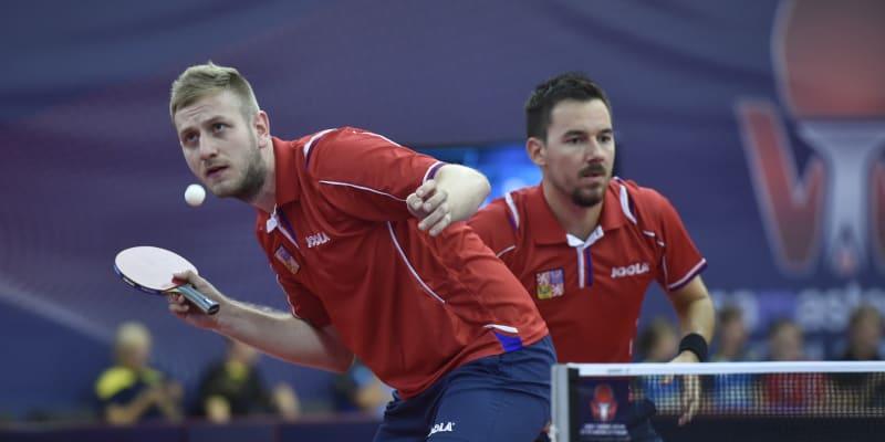 Pavel Širuček a Tomáš Tregler při zápase