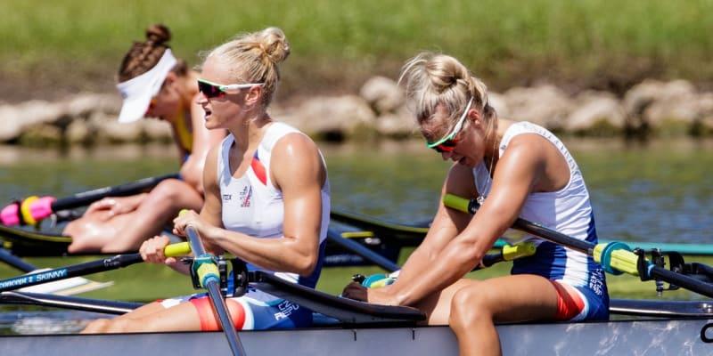 Lenka Antošová a Kristýna Fleissnerová na veslařském mistrovství světa v americké Floridě.