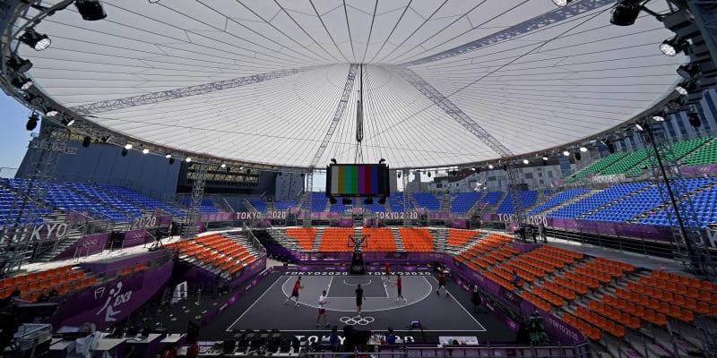 Na hřiště pro basketbal 3x3 v Aomi Urban Sports Park v Tokiu se již trénuje. První olympijské zápasy se v areálu odehrají v sobotu 24. července.