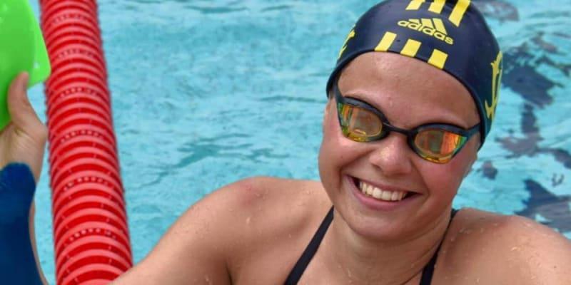 Kristýna Horská miluje plavání