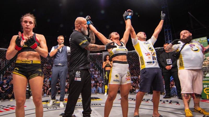 MMA: První nezdar Pudilové v Oktagonu, prozatímní titul v kleci získal Krištofič