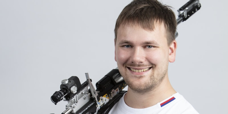 Sportovní střelec David Hrčkulák