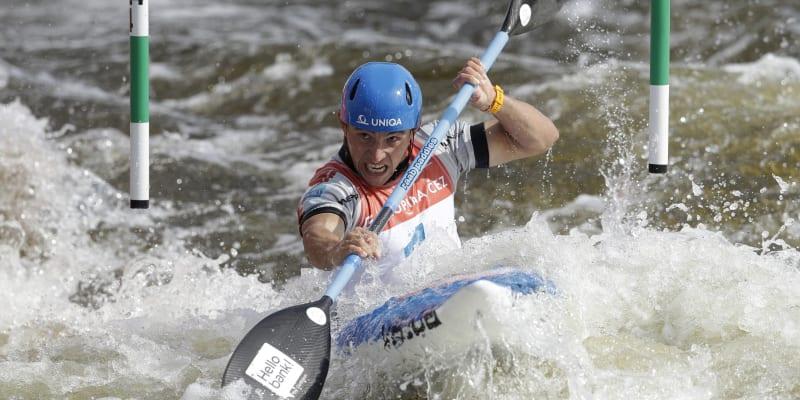 Kajakář Jiří Prskavec na domácím mistrovství Evropy v Praze v září 2020.