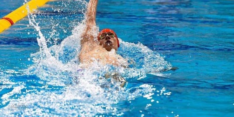 Český plavec Jan Čejka při své disciplíně (autor: Jan Čejka)