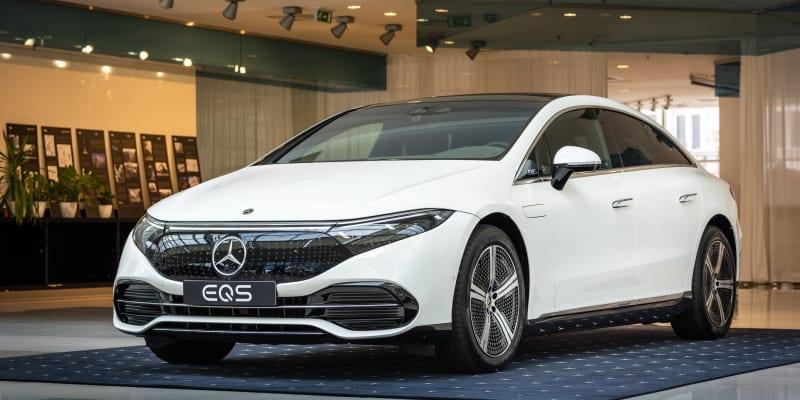 Mercedes-Benz EQS v Praze