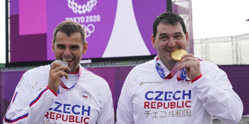 Dva rodáci z Brna vystoupali na olympijských hrách na dvě nejvyšší pozice. David Kostelecký (vlevo) a Jiří Lipták.
