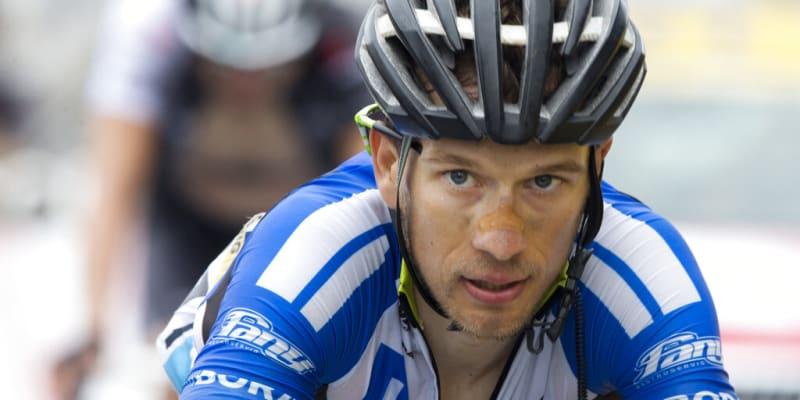 Cyklista Leopold König na Tour de France v roce 2014.