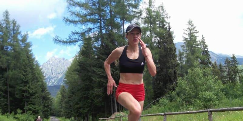 Běžkyně Simona Vrzalová při tréninku (autor: Simona Vrzalová)