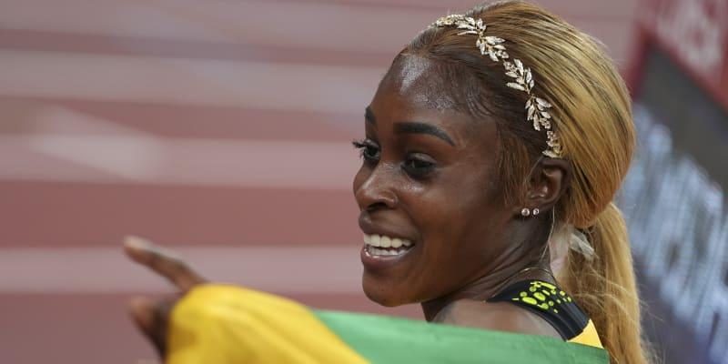 Sportovkyně neskrývala radost.