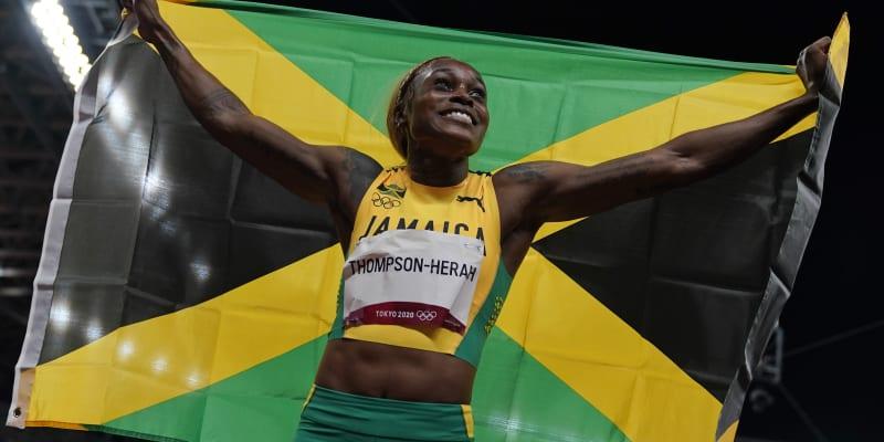 Zlato z Ria de Janeiro obhájila Elaine Thompsonová-Herahová v druhém nejlepším čase historie 10,61 sekundy.
