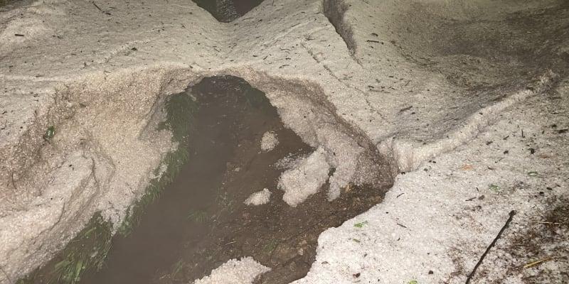 Na Jihlavsku bouře přinesly kroupy