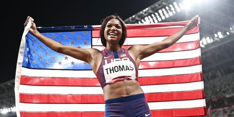 Šťastná Gabrielle Thomasová