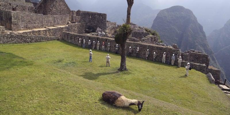 Ze staveb se zachovaly zbytky zdí z velkých kamenných, až šest metrů velkých bloků.