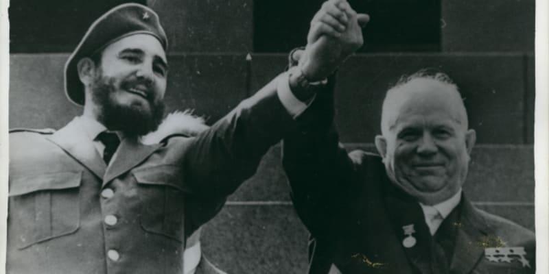 Fidel Castro a Nikita Chruščov v roce 1963