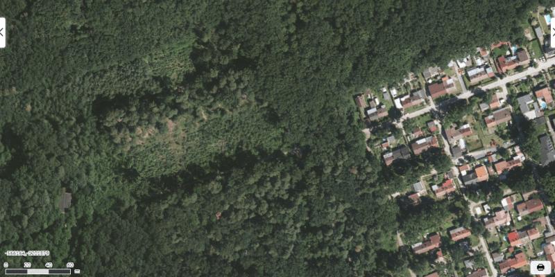 Letecký snímek Hodonína z roku 2018.