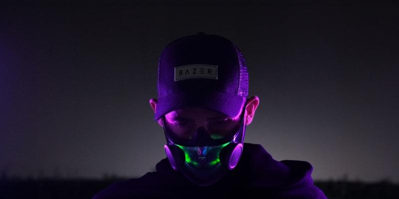 Stejně jako herní periferie od Razeru, i respirátory budou svítit ve tmě.