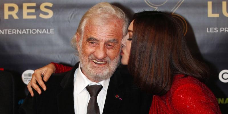 Jean-Paul Belmondo a Monica Bellucci v roce 2018